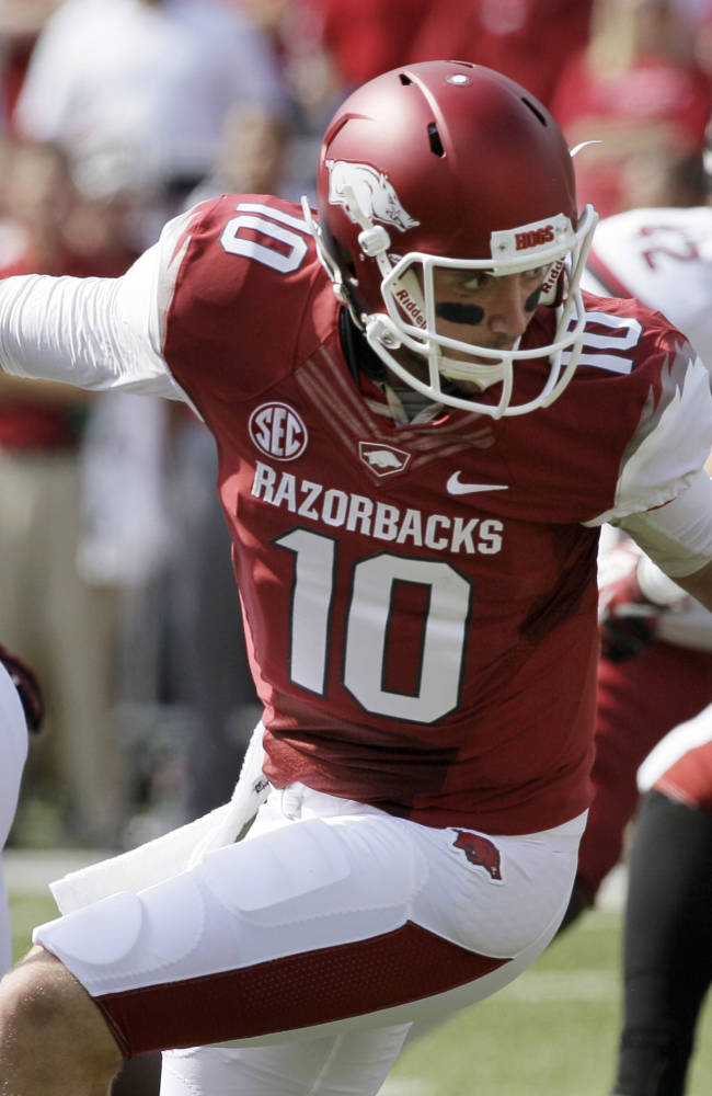 Arkansas' Bielema committed to Allen despite woes