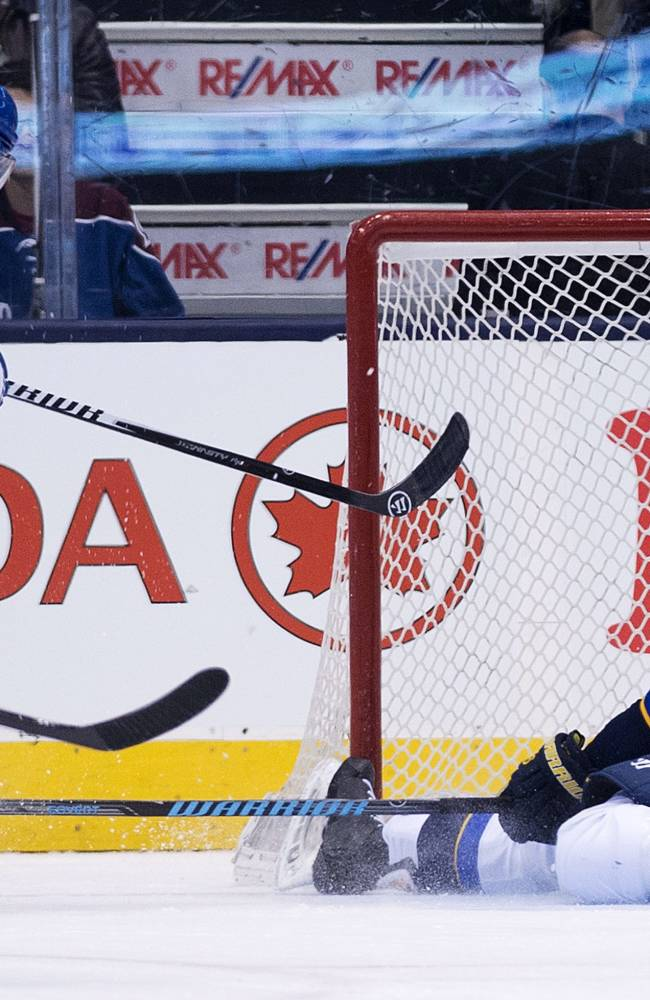 Backes has hat trick as Blues top Leafs 5-3