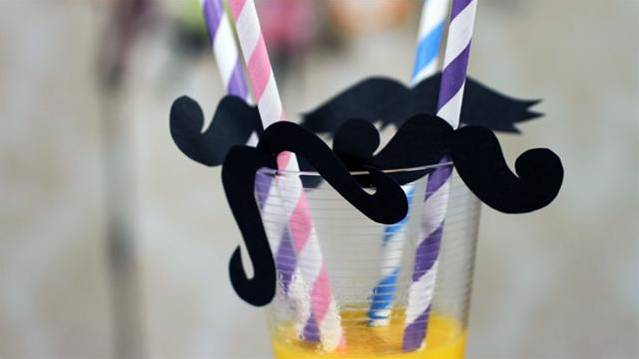 Hen Party Moustache Straws