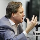 Brian France, chief executive officer and chairman of NASCAR auto racing, answers questions during a news conference at Daytona International Speedway, Friday, July 6, 2012, in Daytona Beach, Fla. (AP Photo/Terry Renna)