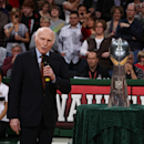 Milwaukee Bucks owner Senator Herb Kohl speaks during a halftime ceremony honoring the Super Bowl Champion Green Bay Packers during the NBA game between the Indiana Pacers and the Milwaukee Bucks on February 12, 2011 at the Bradley Center in Milwaukee, Wisconsin. (Photo by Gary Dineen/NBAE via Getty Images)