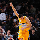 DENVER, CO - December 19: Danilo Gallinari #8 of the Denver Nuggets during the game against the Los Angeles Clippers on December 19, 2014 at Pepsi Center in Denver, Colorado. (Photo by Garrett Ellwood/NBAE via Getty Images