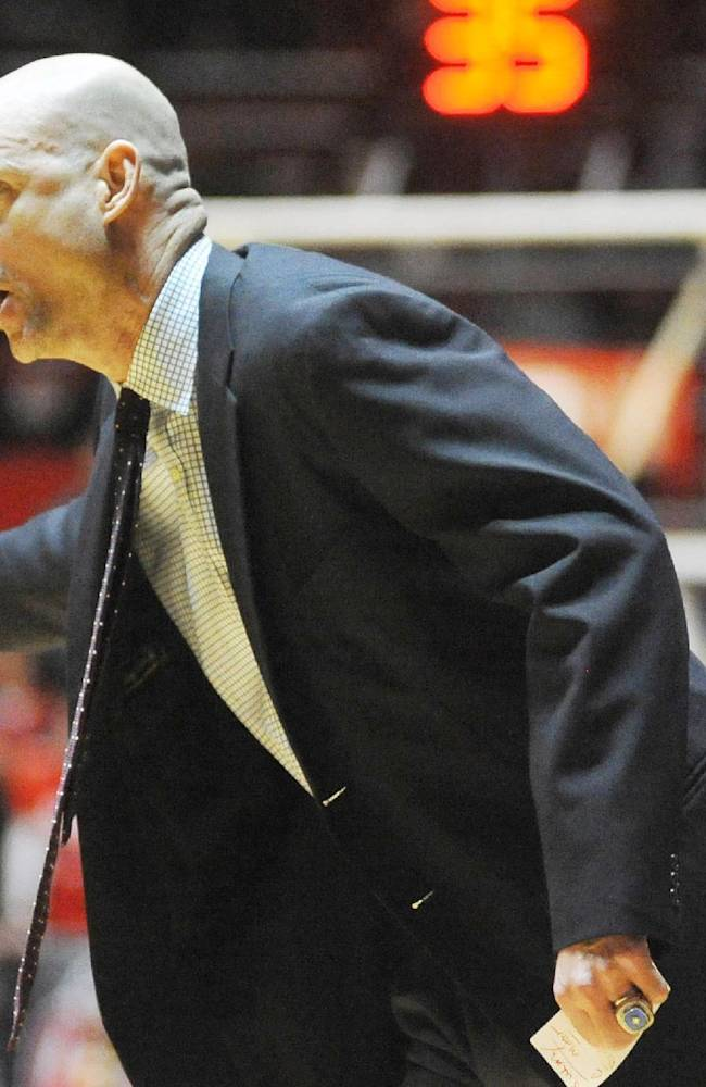 Mississippi head coach Andy Kennedy talks to one his players during an NCAA college basketball game against Mercer in Oxford, Miss., Sunday, Dec. 22, 2013. Mercer won 79-76