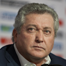 Victor Manuel Vucetich pauses during his presentation as the new coach for Mexico's national soccer team in Mexico City, Thursday, Sept. 12, 2013. Vucetich is one of the most successful coaches in the local league, where hes known as