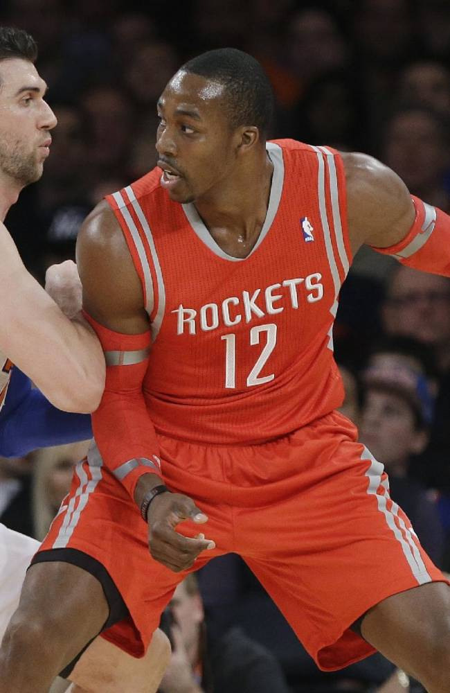Harden, Rockets withstand Anthony's 45, top Knicks