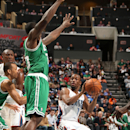 CHARLOTTE, NC - FEBRUARY 11: Kemba Walker #15 of the Charlotte Bobcats looks to pass the ball against the Boston Celtics at the Time Warner Cable Arena on February 11, 2013 in Charlotte, North Carolina. (Photo by Kent Smith/NBAE via Getty Images)