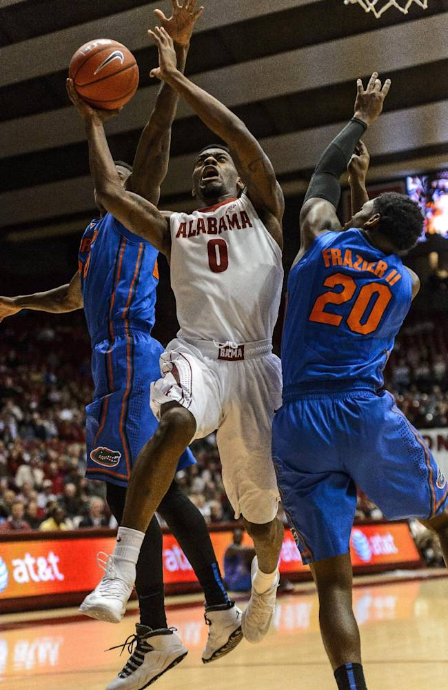 Frazier leads No. 6 Florida past Alabama, 68-62