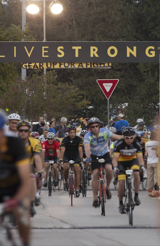 Lance Armstrong Speaks At The LIVESTRONG Challenge Ride