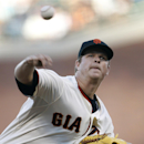 San Francisco Giants pitcher Matt Cain throws against the San Diego Padres during the first inning of a baseball game in San Francisco, Monday, June 23, 2014 The Associated Press