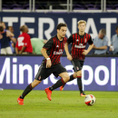 IMAGE DISTRIBUTED FOR INTERNATIONAL CHAMPIONS CUP - Giacomo Bonaventura, center, moves the ball up the pitch during the International Champions Cup soccer match between Chelsea FC and AC Milan on Wednesday, Aug. 3, 2016 at US Bank Stadium in Minneapolis.