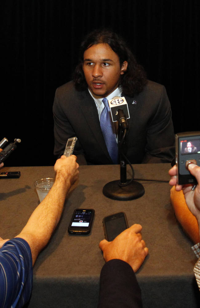 Mississippi safety Cody Prewitt speaks to the media at the Southeastern Conference NCAA college football media days, Thursday, July 17, 2014, in Hoover, Ala
