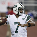New York Jets quarterback Geno Smith (7) throws against the Buffalo Bills during the second half of an NFL football game in Detroit, Monday, Nov. 24, 2014. Smith is getting another shot as the New York Jets' starting quarterback. The team announced Wednes