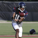 Houston Texans wide receiver DeAndre Hopkins makes a catch during NFL football training camp Tuesday, July 29, 2014, in Houston The Associated Press