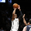 Brooklyn Nets shooting guard Marcus Thornton (10) shoots in the first half of an NBA basketball game against the Memphis Grizzlies on Wednesday, March 5, 2014, in New York The Associated Press