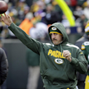 Green Bay Packers' Aaron Rodgers throws before an NFL football game against the Minnesota Vikings Sunday, Nov. 24, 2013, in Green Bay, Wis The Associated Press
