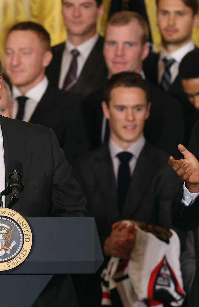 President Obama Welcomes NHL Champion Chicago Blackhawks To The White House