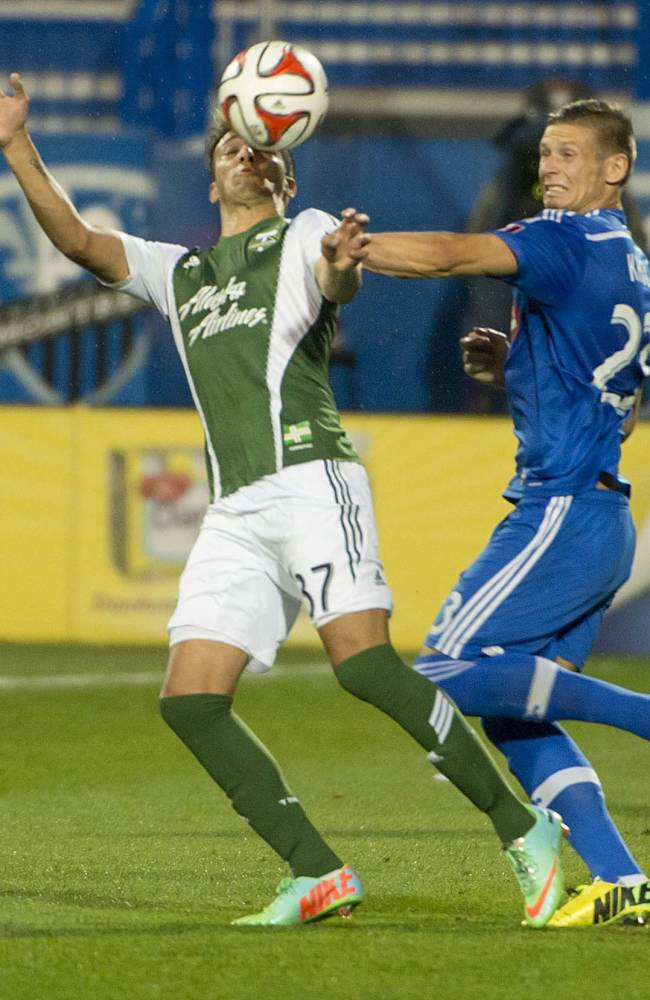 Valeri lifts Timbers past Impact, 3-2