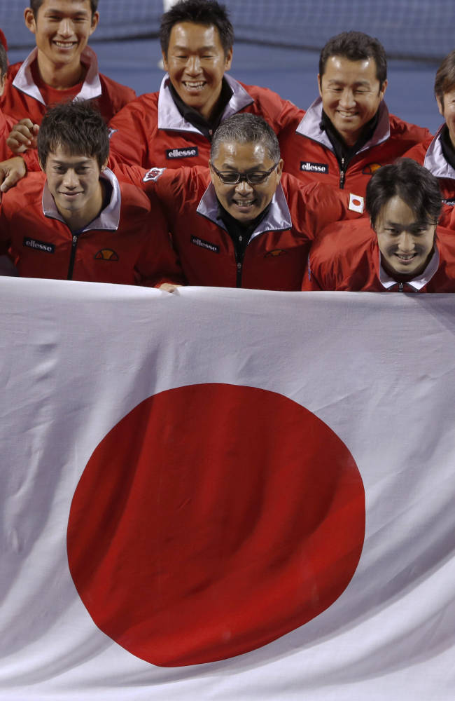 Japan beats injury-plagued Canada 4-1 at Davis Cup