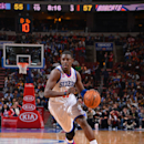 PHILADELPHIA, PA - MARCH 30: Jrue Holiday #11 of the Philadelphia 76ers drives to the basket against the Charlotte Bobcats at the Wells Fargo Center on March 30, 2013 in Philadelphia, Pennsylvania. (Photo by Jesse D. Garrabrant/NBAE via Getty Images)
