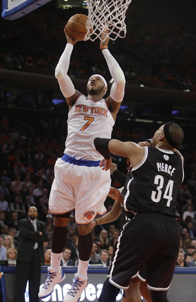 Knicks rout Nets 110-81, move into 8th in East