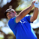 Mar 8, 2014; Miami, FL, USA; Patrick Reed tees off from the 5th hole during the third round of the WGC - Cadillac Championship golf tournament at TPC Blue Monster at Trump National Doral. Mandatory Credit: Andrew Weber-USA TODAY Sports - RTR3G9GY