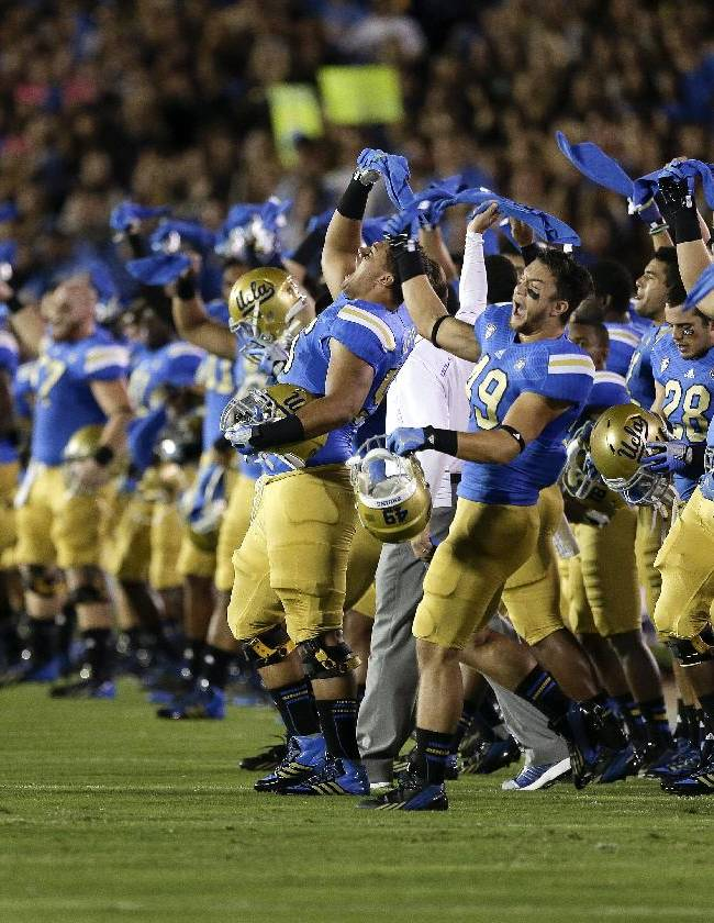 No. 13 UCLA honors Pasquale, routs NM State 59-13