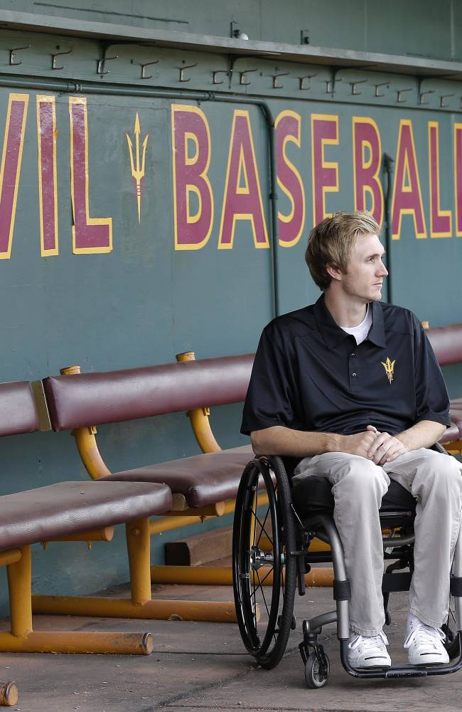 Paralyzed ballplayer finds a future in the game