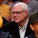 LOS ANGELES, CA - MARCH 12: New York Knicks president Phil Jackson watches from the stands as his team plays the Los Angeles Lakers at Staples Center on March 12, 2015 in Los Angeles, California. The Knicks won 101-94. (Photo by Stephen Dunn/Getty Images)