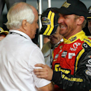 Many in the Sprint Cup garage wanted to congratulate Roger Penske, including Chase runner-up Clint Bowyer. (Getty Images)