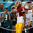 Washington Redskins' DeSean Jackson walks onto the field for warm ups before an NFL football game against the Philadelphia Eagles, Sunday, Sept. 21, 2014, in Philadelphia The Associated Press