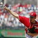 Washington Nationals starting pitcher Stephen Strasburg throws during the first inning of a baseball game against the St. Louis Cardinals at Nationals Park Sunday, April 20, 2014, in Washington The Associated Press