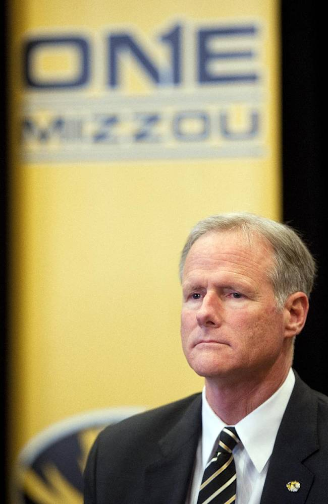 New Missouri men's basketball coach Kim Anderson waits to be introduced at an NCAA college basketball news conference in the Reynolds Alumni Center on Tuesday, April 29, 2014, in Columbia, Mo