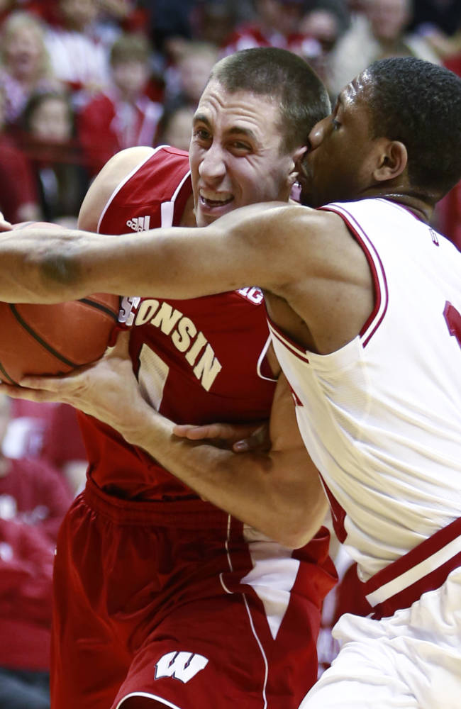 Indiana gets message, upsets No. 3 Wisconsin 75-72