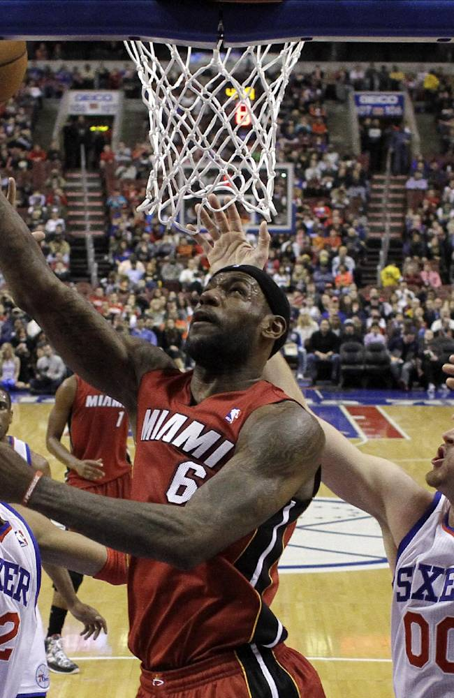 James leads Heat past 76ers to snap 3-game skid