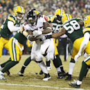 Atlanta Falcons' Steven Jackson runs for a touchdown during the first half of an NFL football game against the Green Bay Packers Monday, Dec. 8, 2014, in Green Bay, Wis The Associated Press