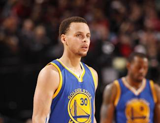 PORTLAND, OR - MARCH 24: Stephen Curry #30 of the Golden State Warriors during the game against the Portland Trail Blazers on March 24, 2015 at the Moda Center Arena in Portland, Oregon. (Photo by Cameron Browne/NBAE via Getty Images)