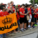 IMAGE DISTRIBUTED FOR GUINNESS INTERNATIONAL CHAMPIONS CUP - Fans wait for their favorite players to arrive before a match between Inter Milan and Manchester United in the 2014 Guinness International Champions Cup on Tuesday, July 29, 2014 in Landover, Ma