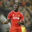 Liverpool's Mario Balotelli celebrates after scoring against Ludogorets during the Champions League Group B soccer match between Liverpool and Ludogorets at Anfield Stadium in Liverpool, England, Tuesday, Sept. 16, 2014