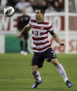 United States defender Carlos Bocanegra (3) during a FIFA World Cup qualifying game against Antigua and Barbuda Friday, June 8, 2012, in Tampa, Fla. (AP Photo/Chris O'Meara)