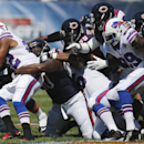 Buffalo Bills running back Fred Jackson (22) is tackled by Chicago Bears defensive tackle Jeremiah Ratliff (90) during the first half of an NFL football game Sunday, Sept. 7, 2014, in Chicago The Associated Press