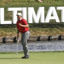 Bo Van Pelt acknowledges the gallery after making birdie on the 18th green during the first round of the BMW Championship PGA golf tournament at Crooked Stick Golf Club in Carmel, Ind., Thursday, Sept. 6, 2012. Van Pelt finished the day at 8-under par. (AP Photo/Charles Rex Arbogast)