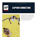 CORRECTS BYLINE - Los Angeles Clippers' Blake Griffin, bottom dunks past Golden State Warriors' Andre Iguodala during the first half in Game 3 of an opening-round NBA basketball playoff series on Thursday, April 24, 2014, in Oakland, Calif. Los Angeles wo