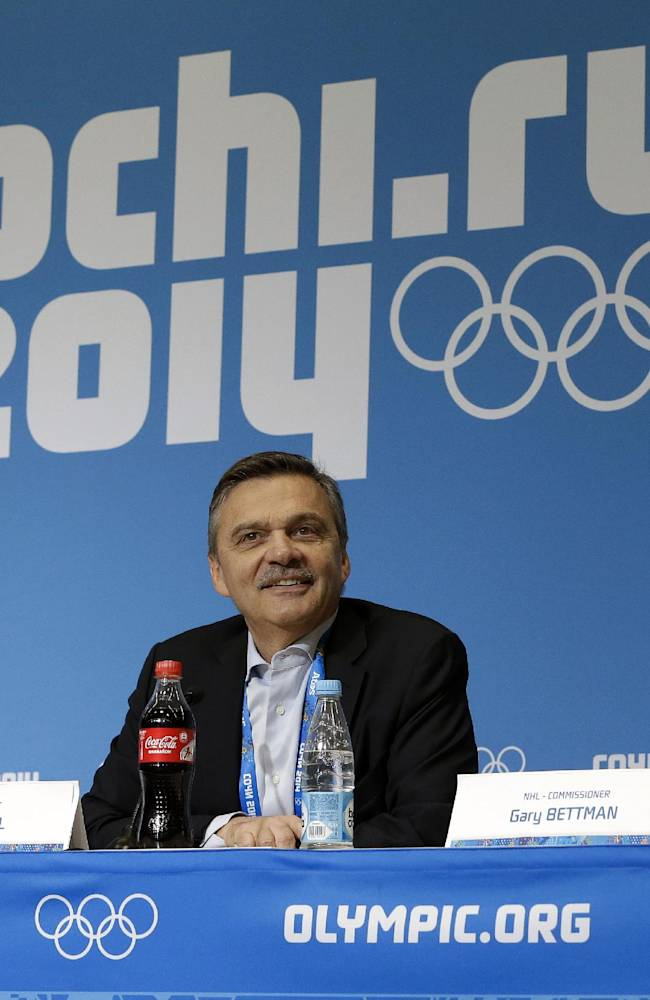 NHL won't discuss 2018 Winter Games while in Sochi