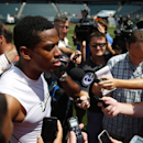 Philadelphia Eagles cornerback Cary Williams speaks with members of media after NFL football training camp Monday, July 28, 2014, in Philadelphia The Associated Press