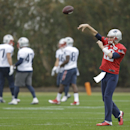 New England Patriots quarterback Tom Brady (12) passes during practice Friday, Jan. 30, 2015, in Tempe, Ariz. The Patriots play the Seattle Seahawks in NFL football Super Bowl XLIX Sunday, Feb. 1 The Associated Press