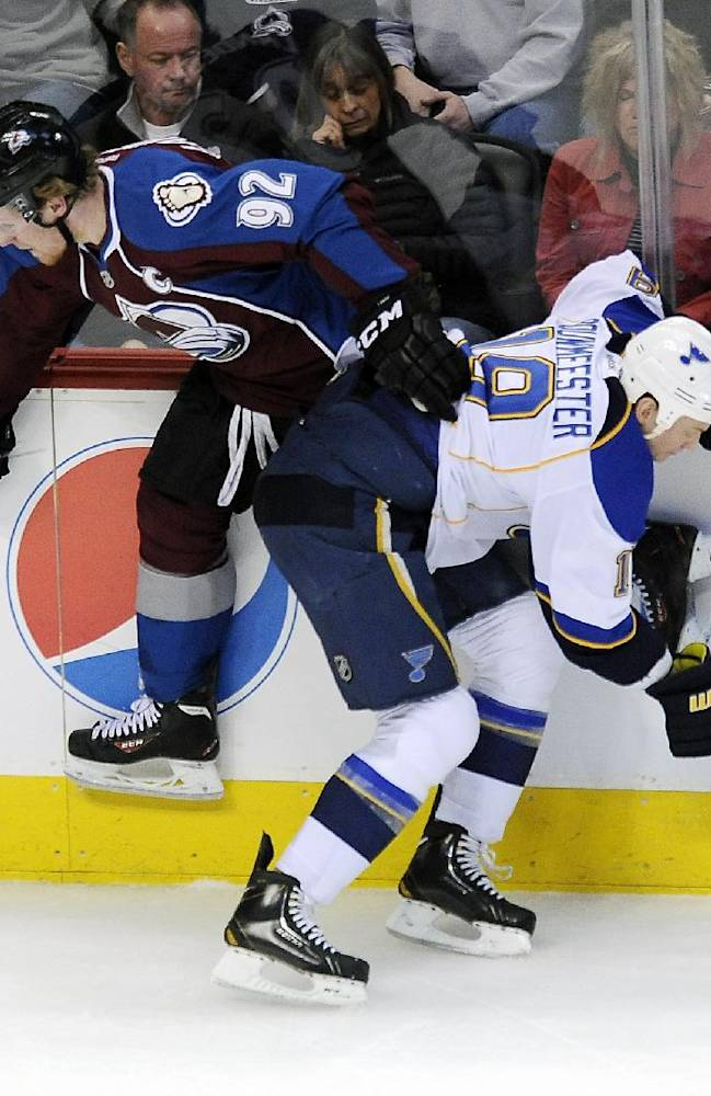 Miller helps Blues to 2-1 win over Avalanche