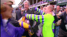 Fight erupts between jockeys in Winners Circle at Breeders' Cup