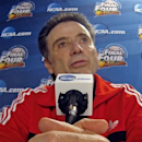Louisville head coach Rick Pitino answers a question during a news conference for their NCAA Final Four tournament college basketball game Sunday, April 7, 2013, in Atlanta. Louisville plays Michigan in the championship game on Monday. (AP Photo/Tim Donnelly)