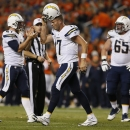San Diego Chargers quarterback Philip Rivers (17) leaves the field during the second half of an NFL football game against the Denver Broncos, Thursday, Oct. 23, 2014, in Denver. The Broncos won 35-21 The Associated Press