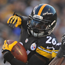 In this Aug. 16, 2014, file photo, Pittsburgh Steelers running back Le'Veon Bell (26) plays in an NFL preseason football game against the Buffalo Bills in Pittsburgh. Steelers running backs Bell and LeGarrette Blount will be charged with marijuana possess